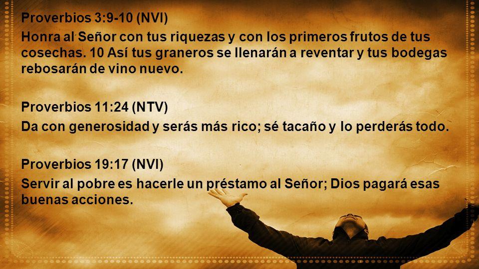 Proverbios 3:9-10 (NVI)