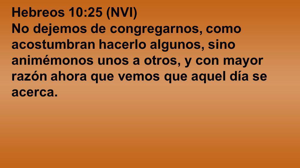 Hebreos 10:25 (NVI)