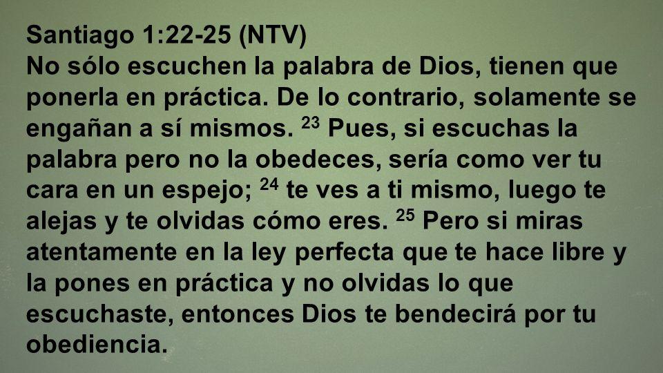 Santiago 1:22-25 (NTV)