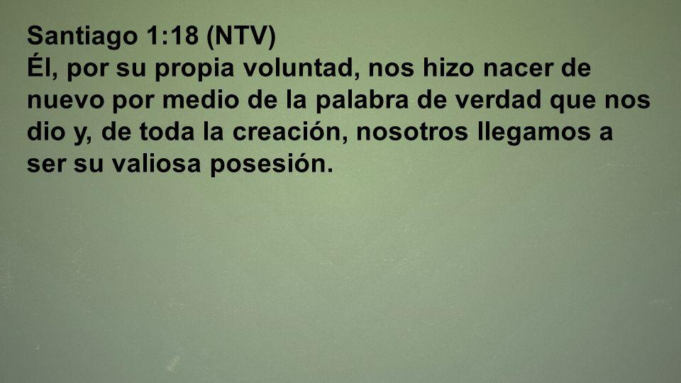 Santiago 1:18 (NTV)
