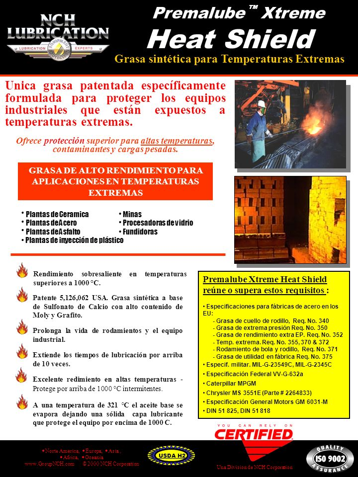 GRASA DE ALTO RENDIMIENTO PARA APLICACIONES EN TEMPERATURAS EXTREMAS