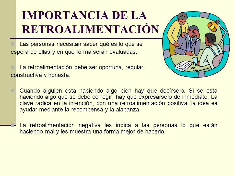 IMPORTANCIA DE LA RETROALIMENTACIÓN
