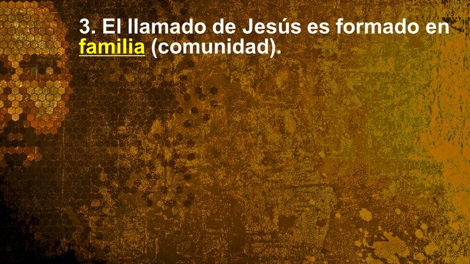 3. El llamado de Jesús es formado en familia (comunidad).