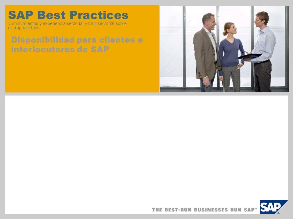 SAP Best Practices Conocimientos y experiencia sectorial y multisectorial sobre