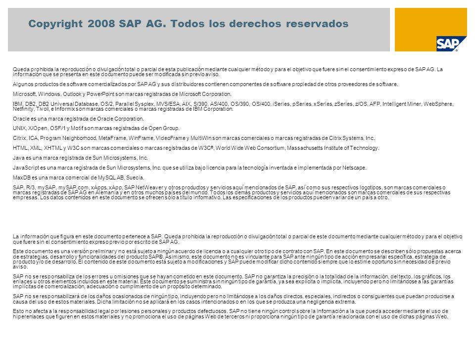 Copyright 2008 SAP AG. Todos los derechos reservados
