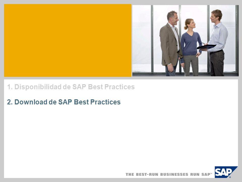 1. Disponibilidad de SAP Best Practices
