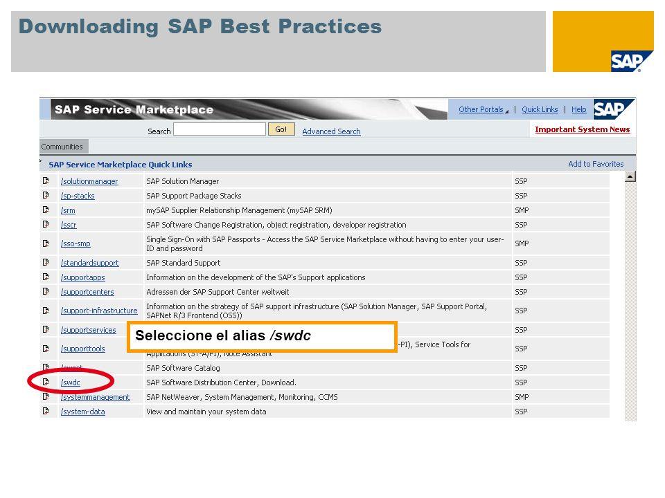 Downloading SAP Best Practices
