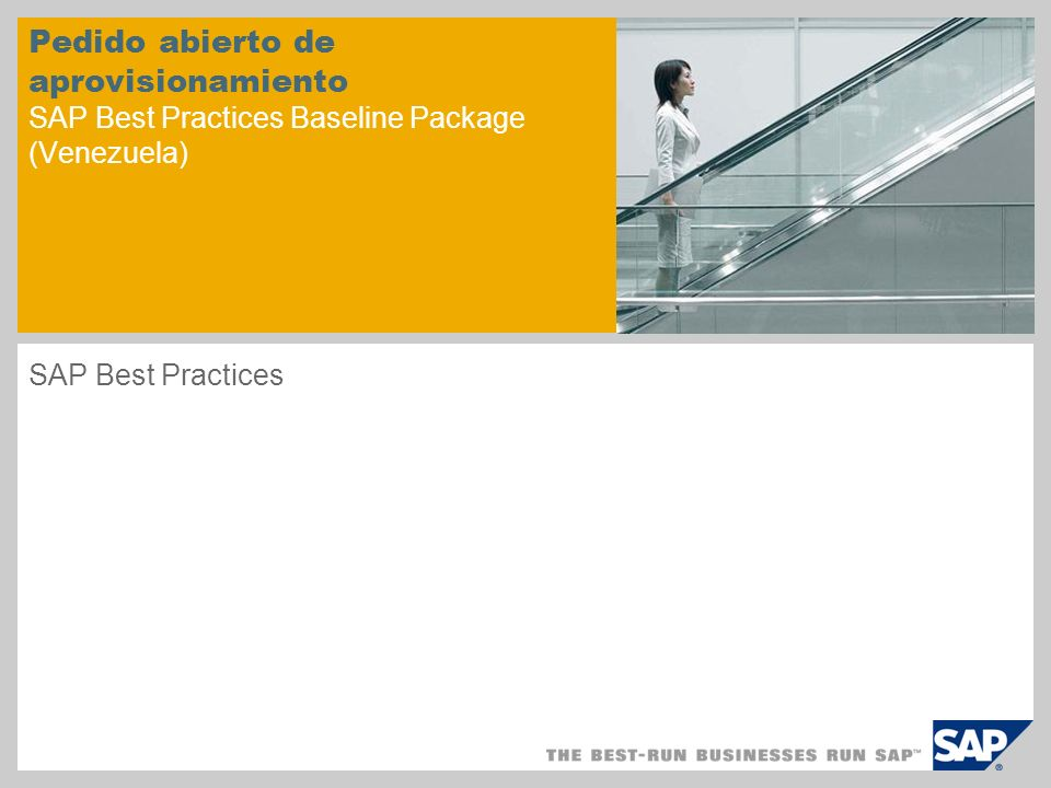 Pedido abierto de aprovisionamiento SAP Best Practices Baseline Package (Venezuela)