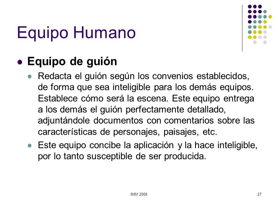 Equipo Humano Equipo de guión