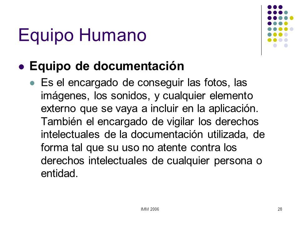 Equipo Humano Equipo de documentación