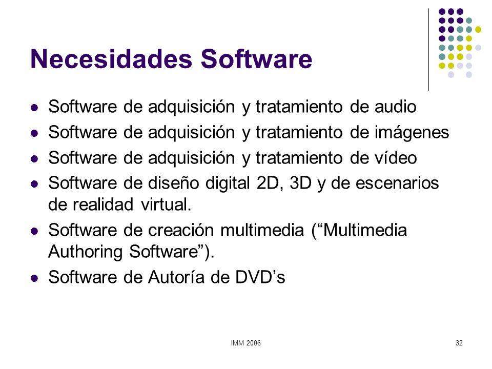 Necesidades Software Software de adquisición y tratamiento de audio