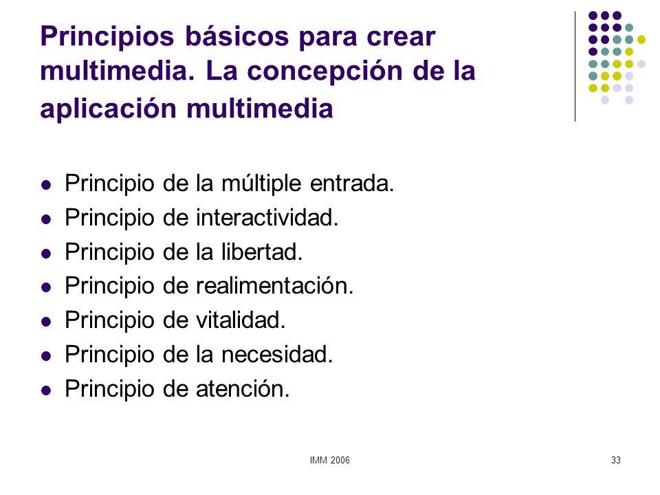 Principios básicos para crear multimedia