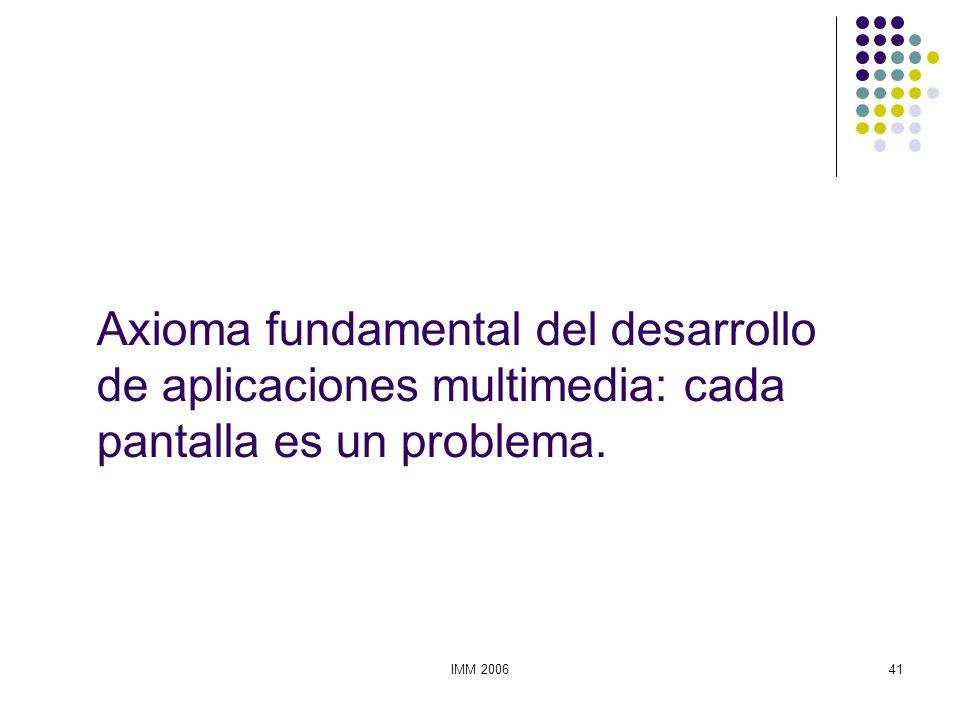 Axioma fundamental del desarrollo de aplicaciones multimedia: cada pantalla es un problema.