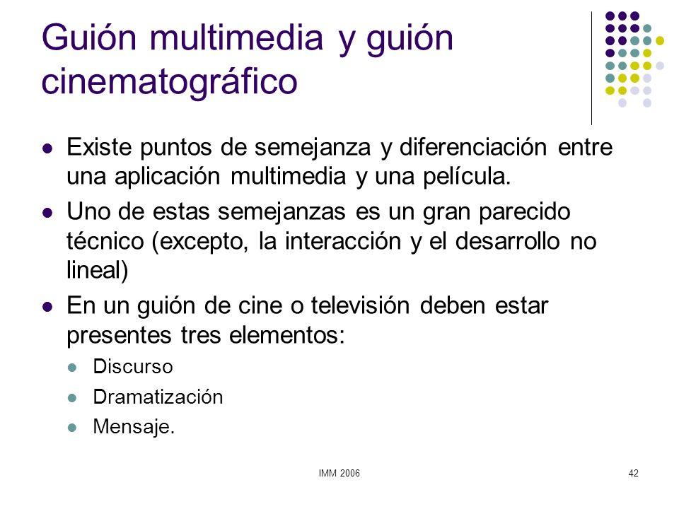 Guión multimedia y guión cinematográfico