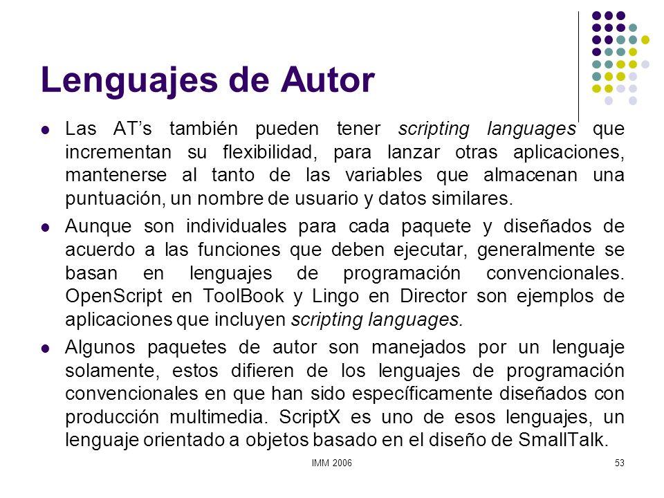 Lenguajes de Autor