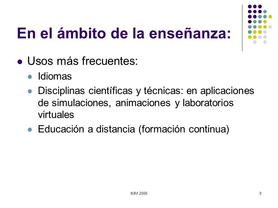 En el ámbito de la enseñanza: