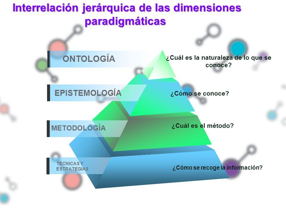 Interrelación jerárquica de las dimensiones paradigmáticas