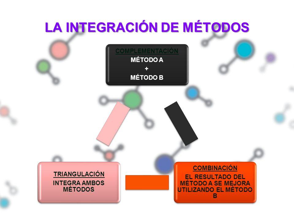 LA INTEGRACIÓN DE MÉTODOS