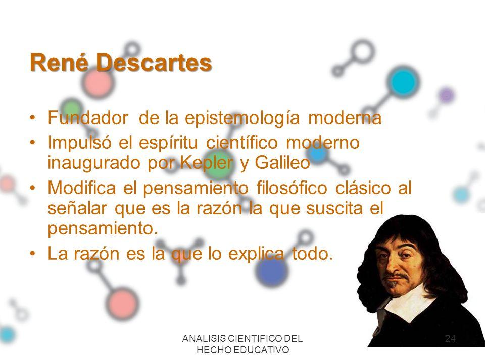 ANALISIS CIENTIFICO DEL HECHO EDUCATIVO