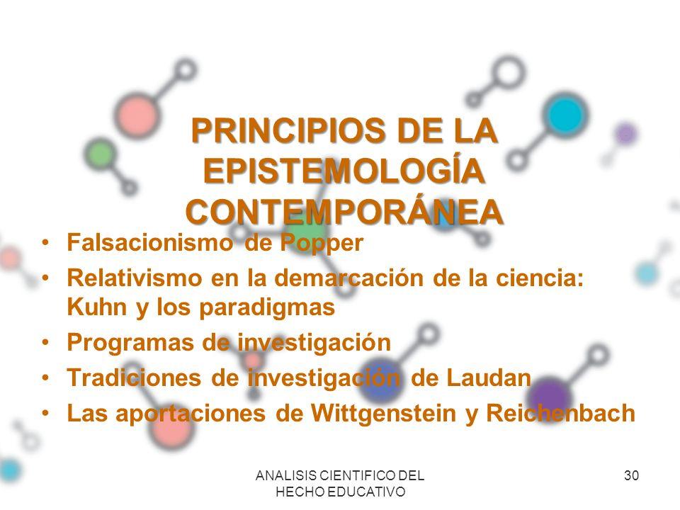 PRINCIPIOS DE LA EPISTEMOLOGÍA CONTEMPORÁNEA