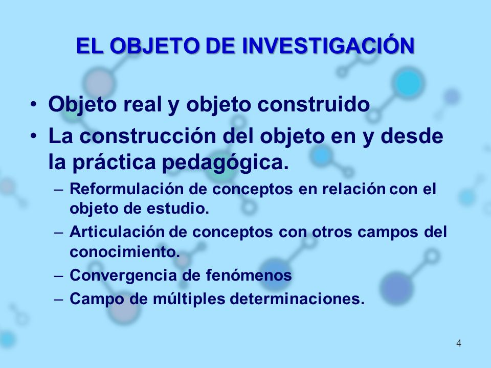 EL OBJETO DE INVESTIGACIÓN
