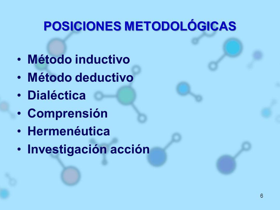 POSICIONES METODOLÓGICAS