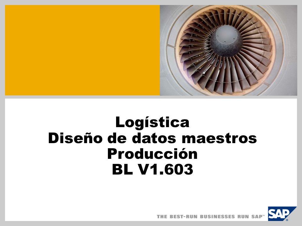Logística Diseño de datos maestros