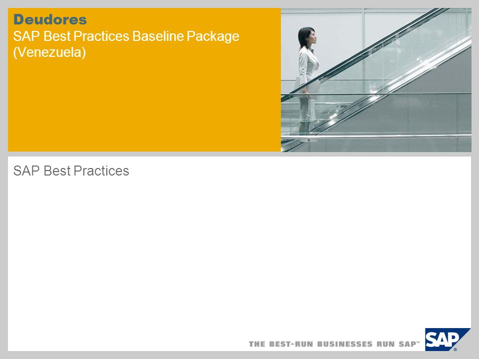 Deudores SAP Best Practices Baseline Package (Venezuela)
