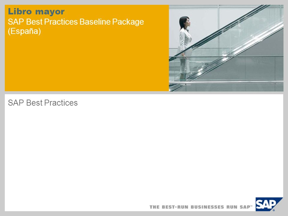Libro mayor SAP Best Practices Baseline Package (España)
