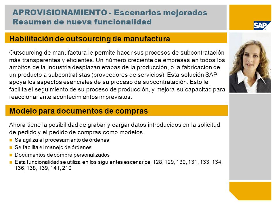 Habilitación de outsourcing de manufactura
