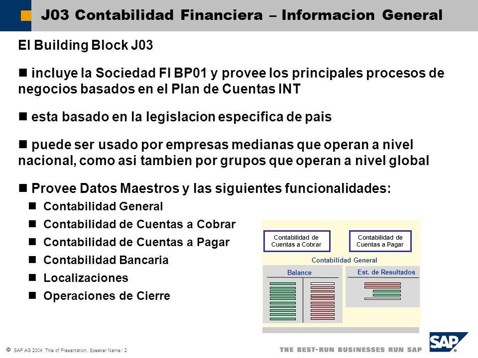 J03 Contabilidad Financiera – Informacion General