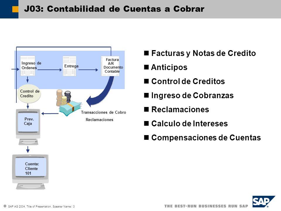 J03: Contabilidad de Cuentas a Cobrar