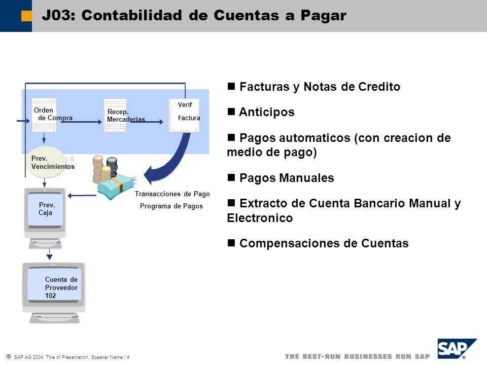 J03: Contabilidad de Cuentas a Pagar