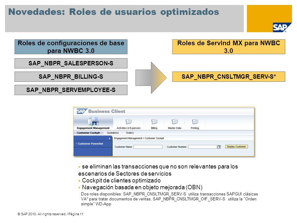 Novedades: Roles de usuarios optimizados