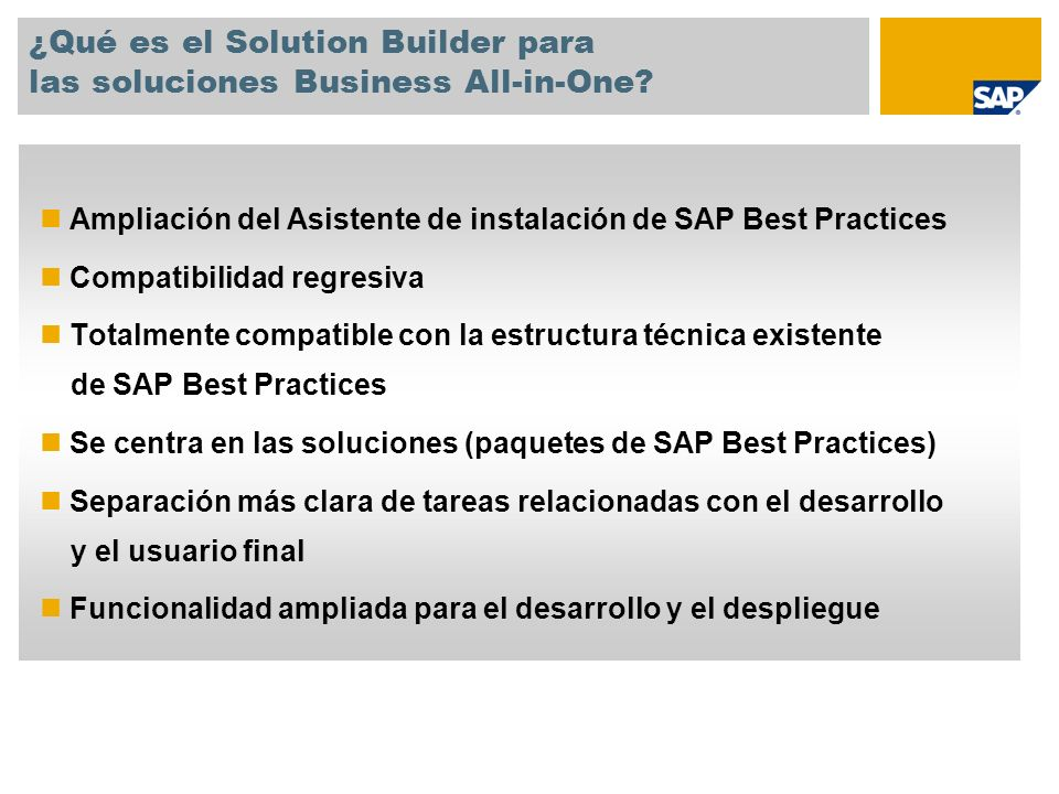 ¿Qué es el Solution Builder para las soluciones Business All-in-One