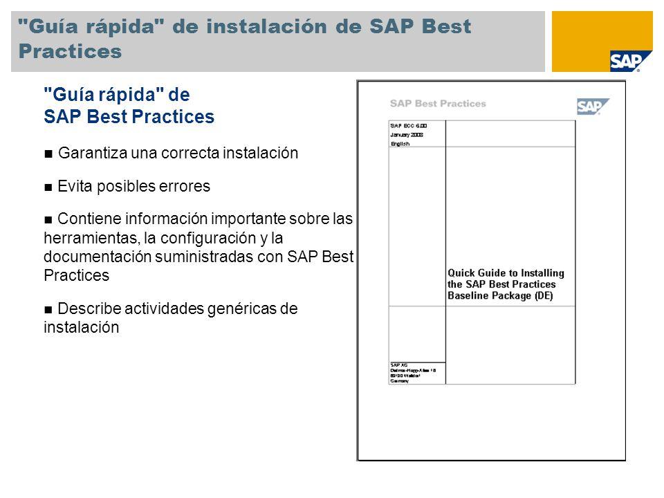 Guía rápida de instalación de SAP Best Practices