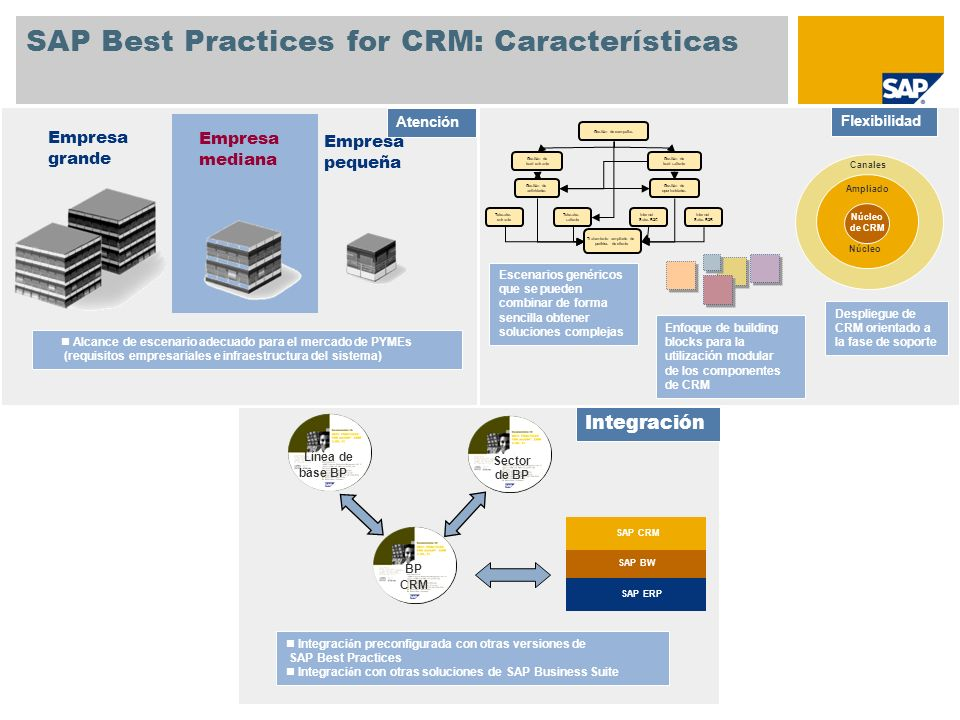 SAP Best Practices for CRM: Características