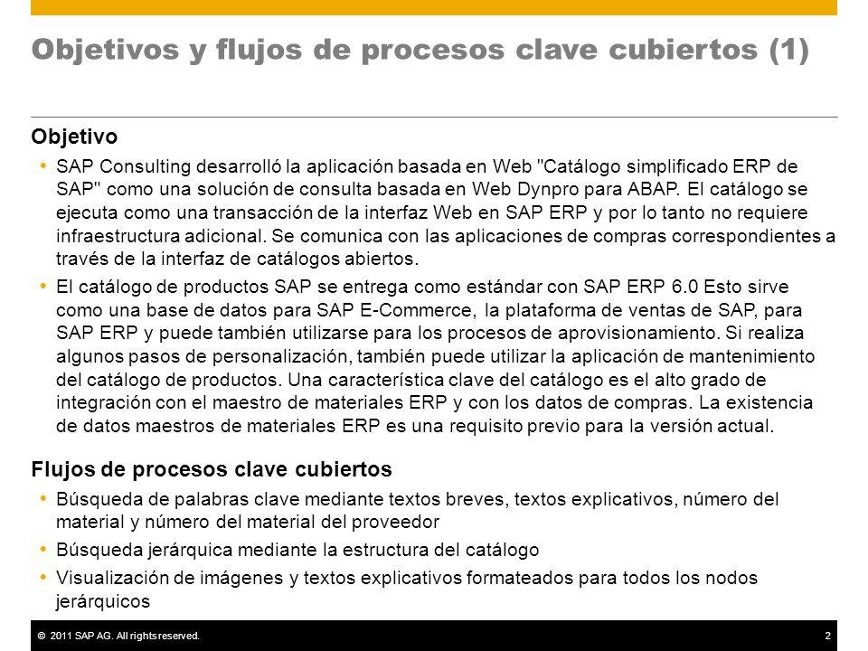 Objetivos y flujos de procesos clave cubiertos (1)