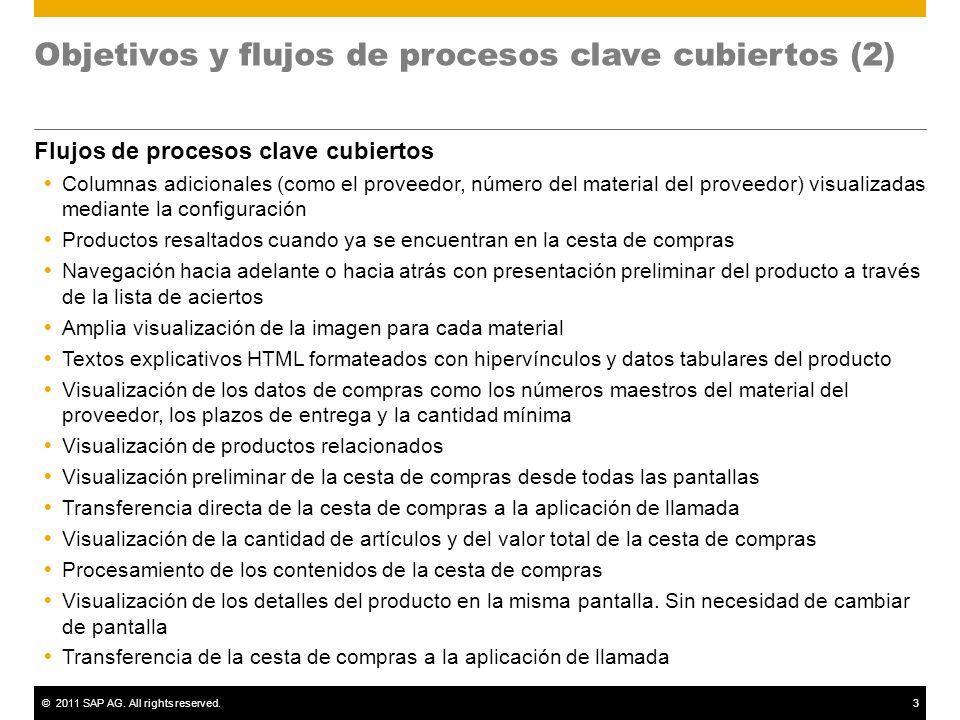 Objetivos y flujos de procesos clave cubiertos (2)