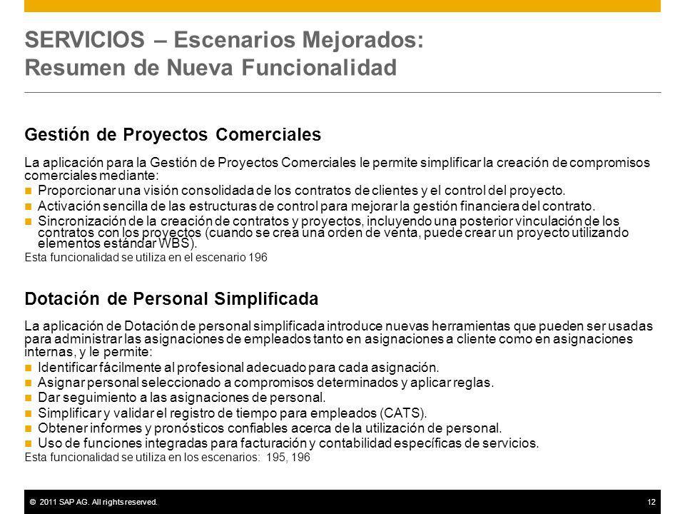 SERVICIOS – Escenarios Mejorados: Resumen de Nueva Funcionalidad