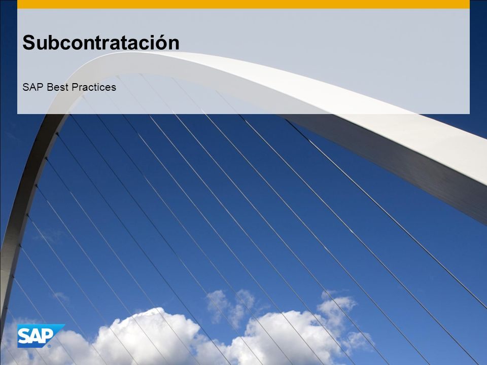 Subcontratación SAP Best Practices