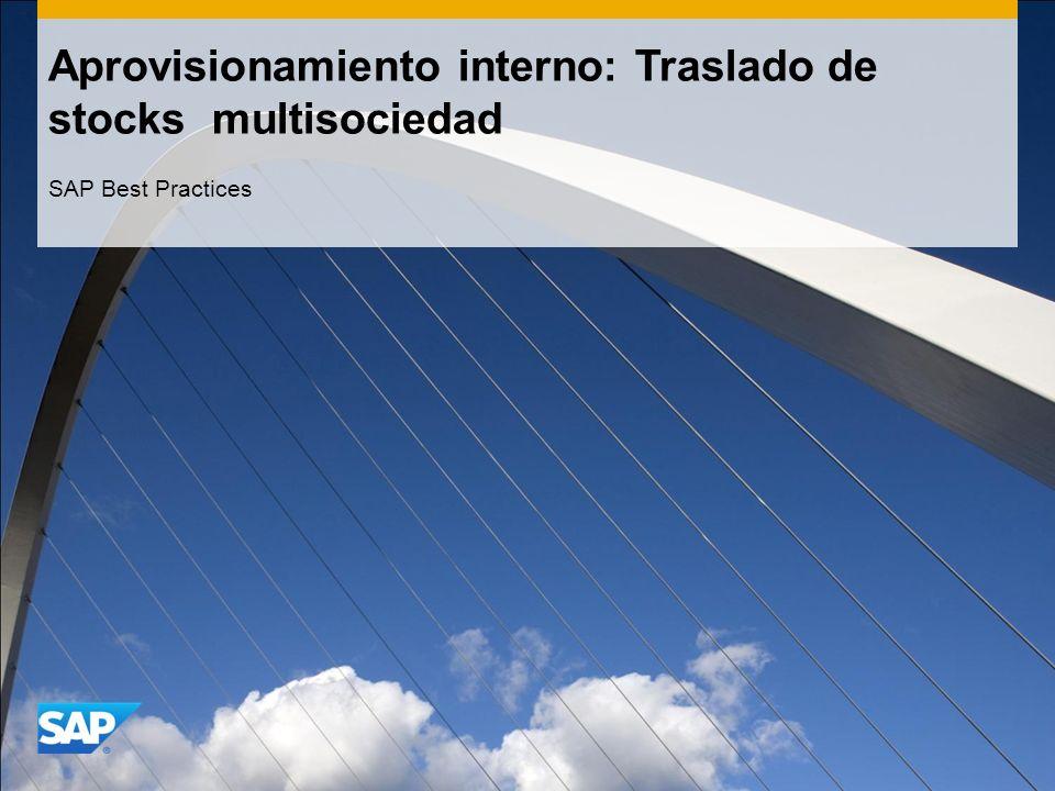 Aprovisionamiento interno: Traslado de stocks multisociedad