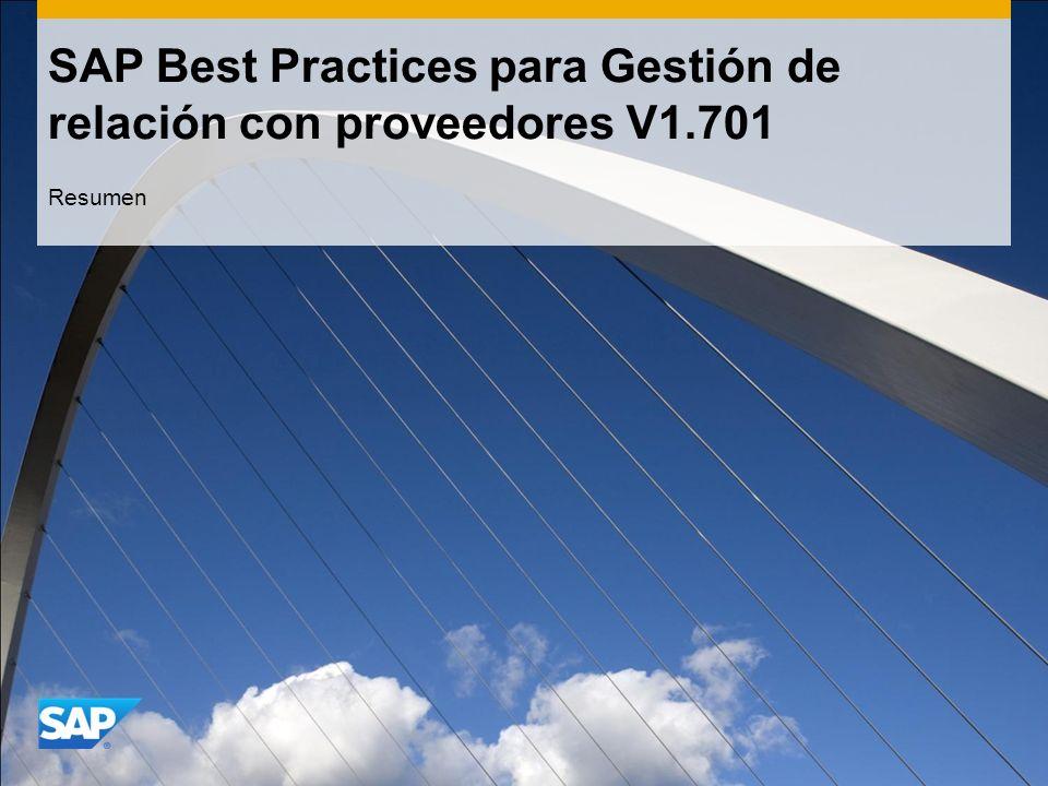 SAP Best Practices para Gestión de relación con proveedores V1.701