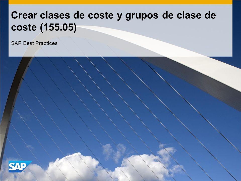 Crear clases de coste y grupos de clase de coste (155.05)