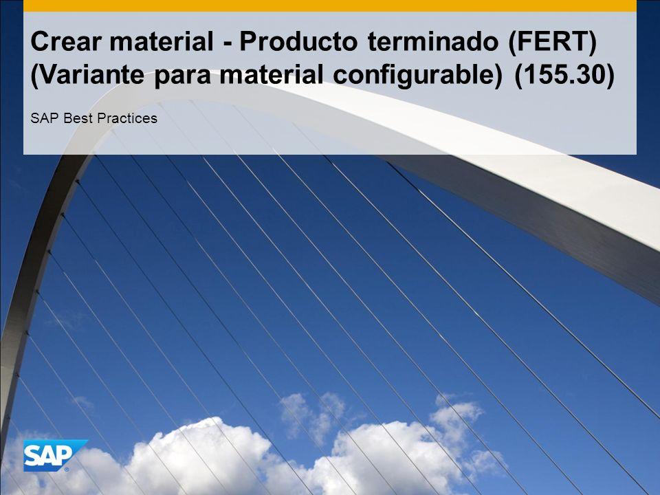 Crear material - Producto terminado (FERT) (Variante para material configurable) (155.30)