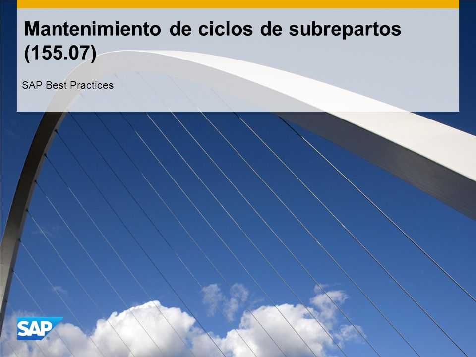 Mantenimiento de ciclos de subrepartos (155.07)