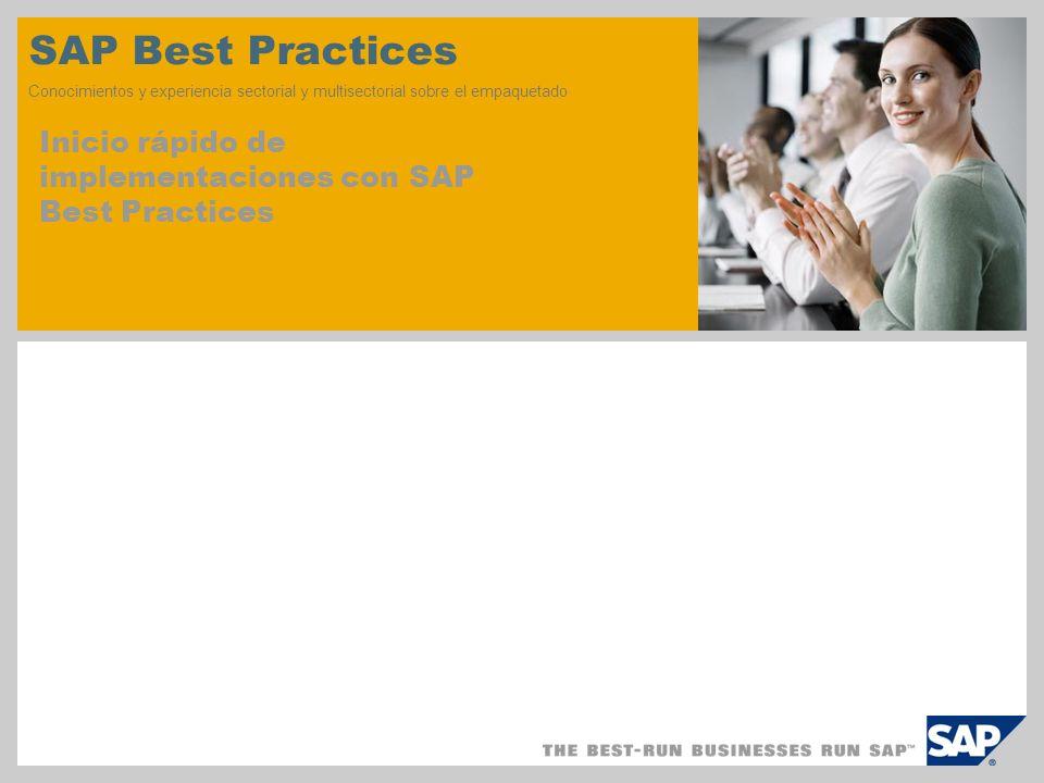 SAP TechEd '04 SAP Best Practices. Conocimientos y experiencia sectorial y multisectorial sobre el empaquetado.