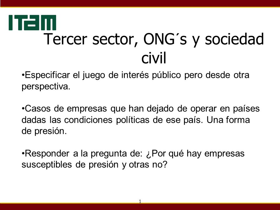 Tercer sector, ONG´s y sociedad civil