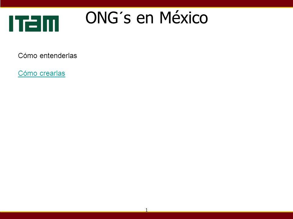 ONG´s en México Cómo entenderlas Cómo crearlas 1