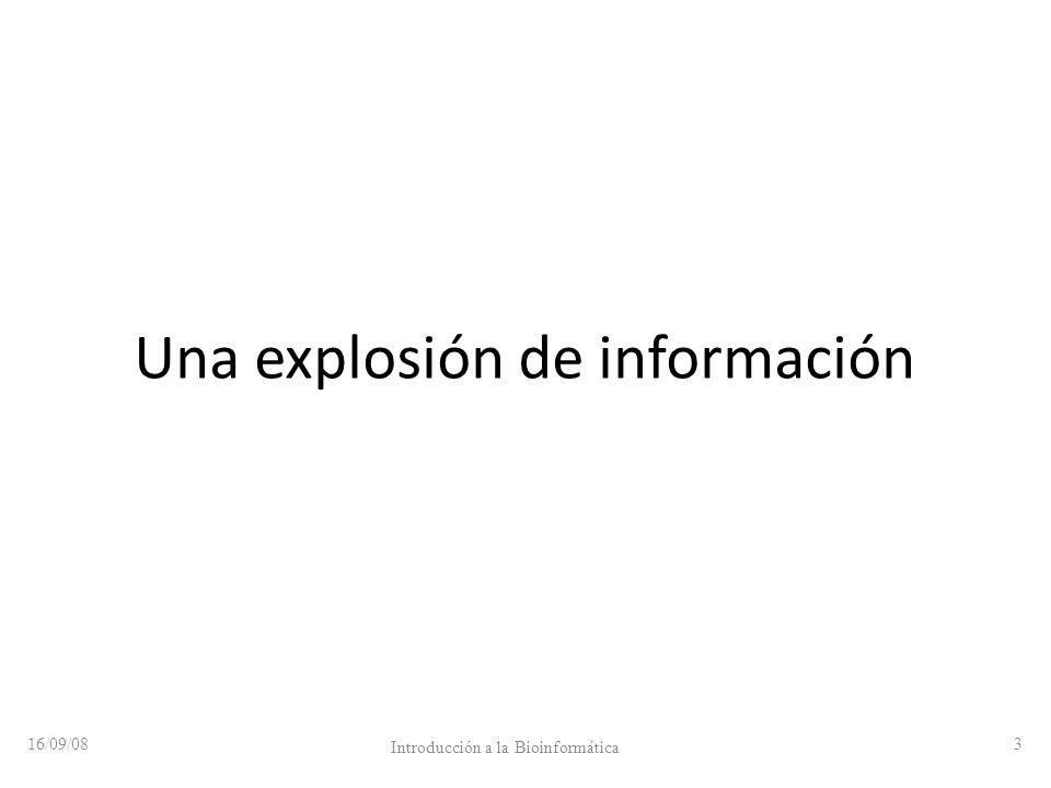 Una explosión de información